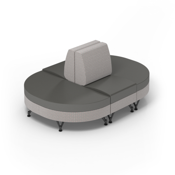 Center Stage Sectional. Knack Glaze & Gunmetal