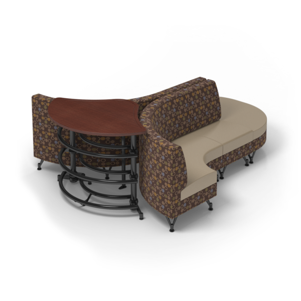 Center Stage Lounge with Ball Rack. Amuse Mocha & Sand