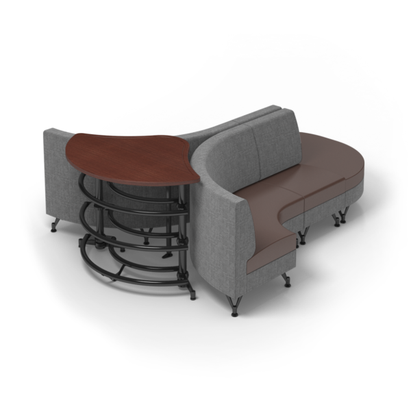 Center Stage Lounge with Ball Rack. Cloth Vesper & Mocha