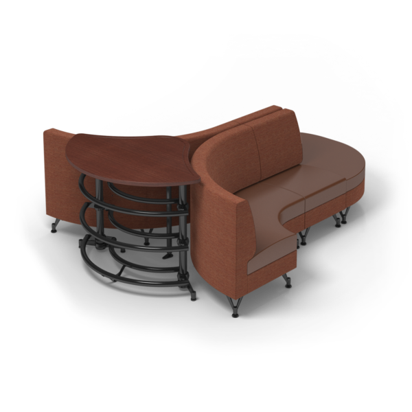 Center Stage Lounge with Ball Rack. Synergy Tango & British Tan