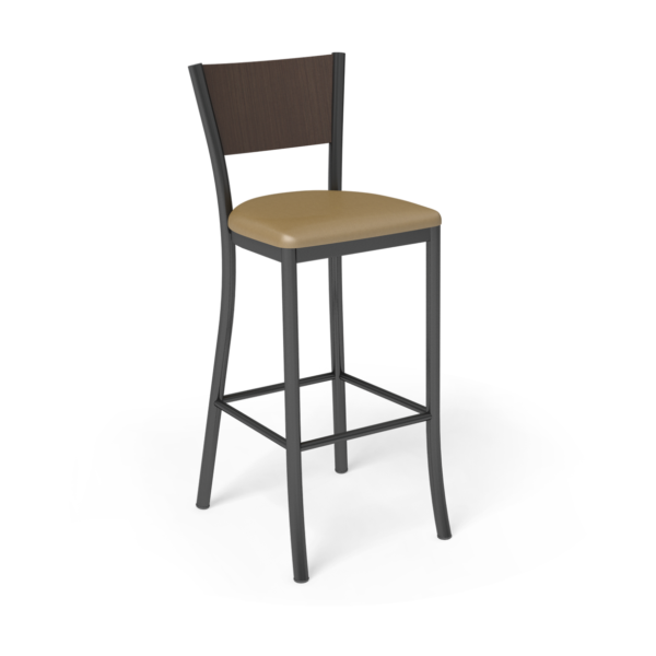 Center Stage Barstool. Artisan Oak Walnut Black