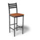 Cs Ladder Back Bar Stool Oiledcherry Black 1220X1220