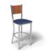 Center Stage Mama Melissa Barstool. Royal Vinyl, Oiled Cherry, & Silver Weldment, for Bar Stool - Mama Melissa (thumbnail 1)