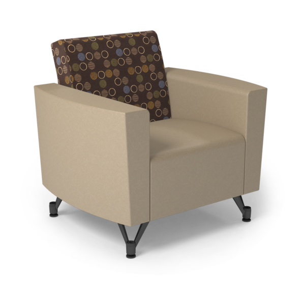 Center Stage Chair. Amuse Mocha & Sand Vinyl