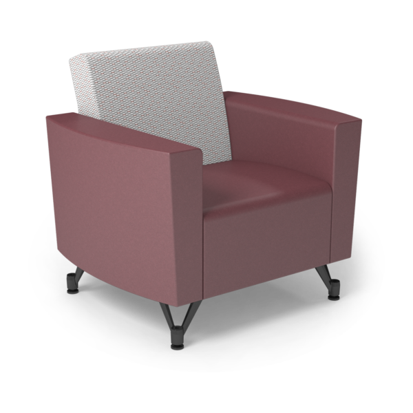 Center Stage Chair. Habit Salt & Dark Cherry Vinyl