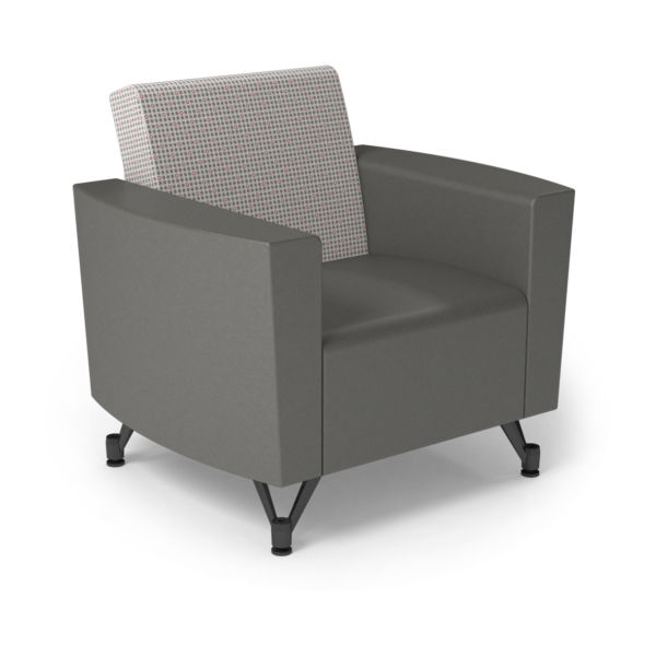 Center Stage Chair. Knack Glaze & Gunmetal Vinyl