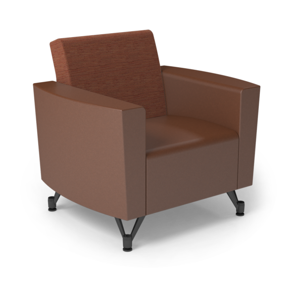 Center Stage Chair. Synergy Tango & British Tan Vinyl