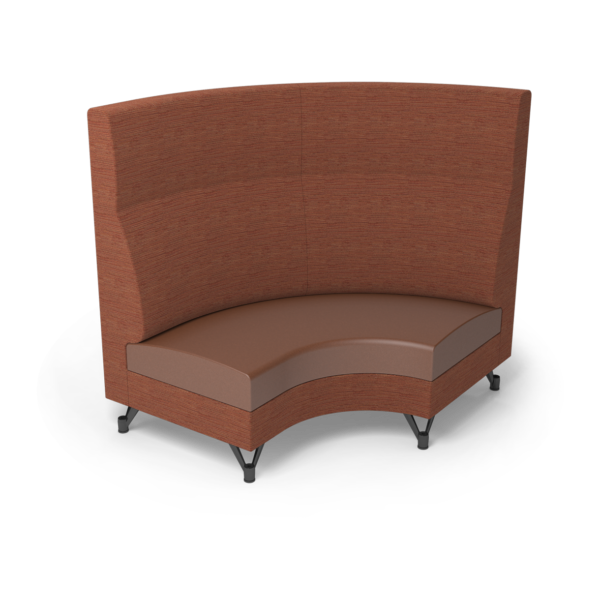 Center Stage Corner Left Highback. Synergy Tango & British Tan Vinyl