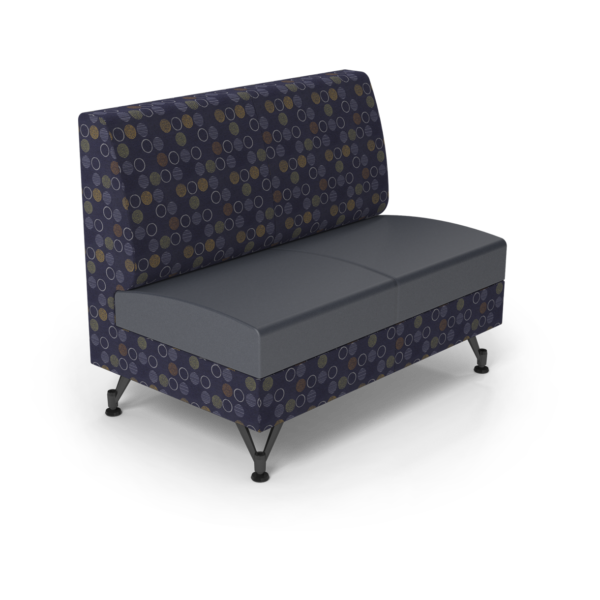 Center Stage Double Seat. Amuse Admiral & Imperial Blue Vinyl
