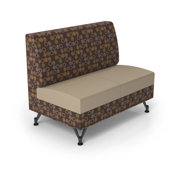 Center Stage Double Seat. Amuse Mocha & Sand Vinyl