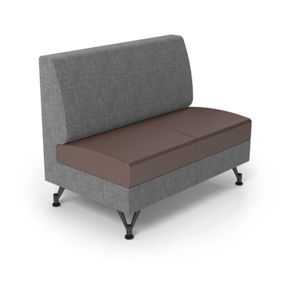 Center Stage Double Seat. Cover Cloth Vesper & Mocha Vinyl