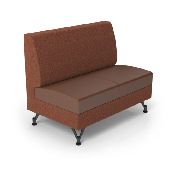 Center Stage Double Seat. Synergy Tango & British Tan Vinyl