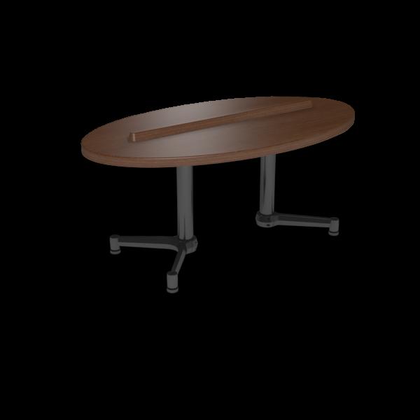Cs 27X48 Coffee Table Ellipse Gunstocksavory Black 1220X1220