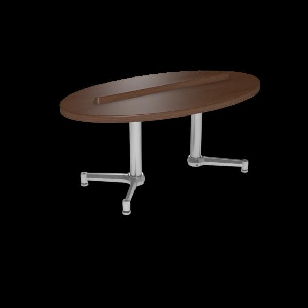 Cs 27X48 Coffee Table Ellipse Gunstocksavory Silver 1220X1220