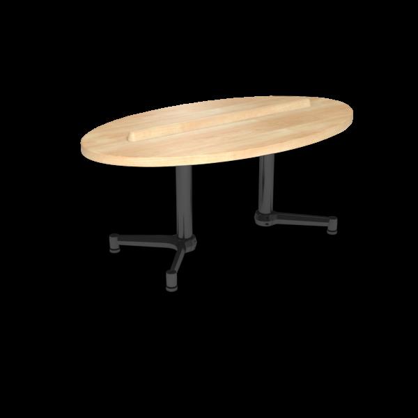Cs 27X48 Coffee Table Ellipse Sugarmaple Black 1220X1220