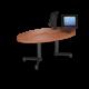Cs 27X48 Coffee Table Ellipse Oiledcherry Black 1220X1220