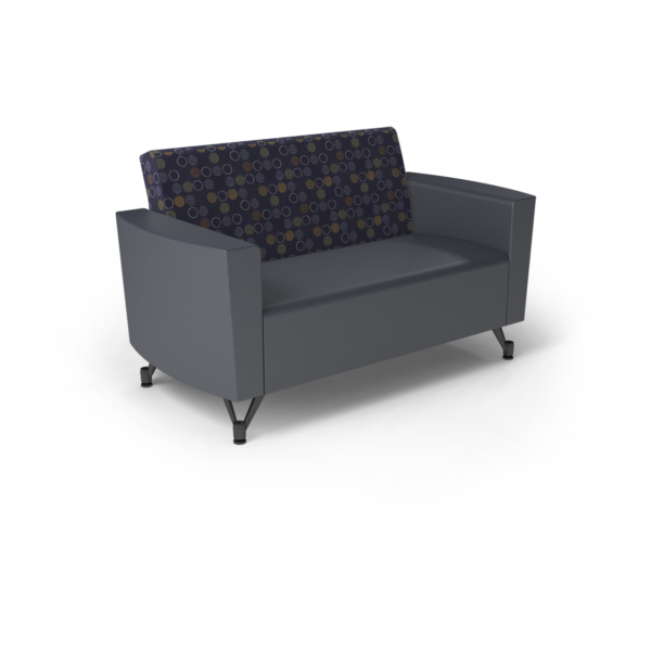 Center Stage Loveseat. Amuse Admiral & Imperial Blue Vinyl