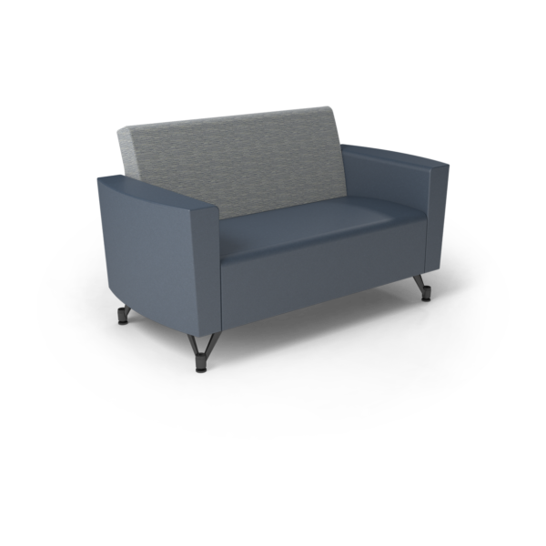 Center Stage Loveseat. Synergy Aegean & Blue Ridge Vinyl