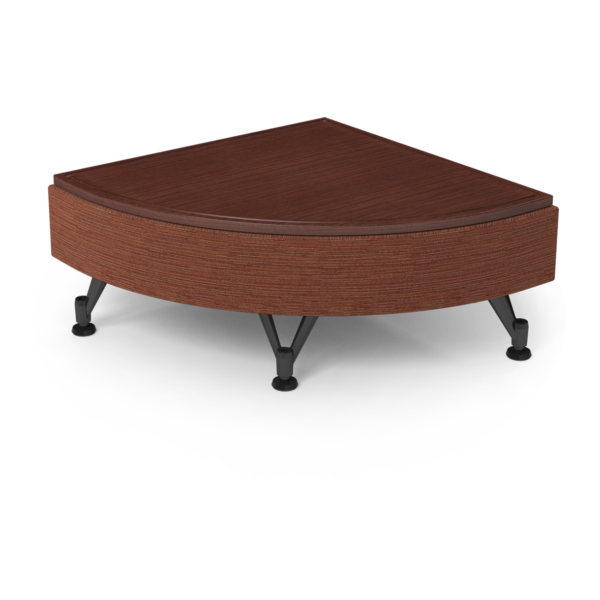 Center Stage Quarter Moon Table. Synergy Tango & Formal Mahogany
