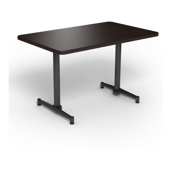 Center Stage, table-height, rectangular table. Witchcraft & black weldment.