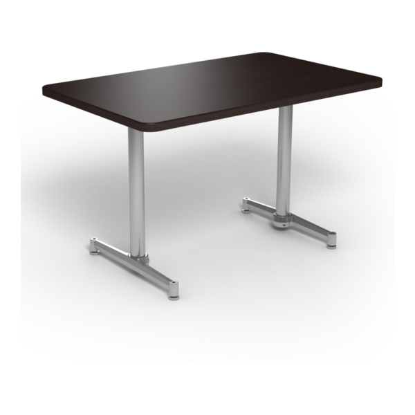 Center Stage, table-height, rectangular table. Witchcraft & silver weldment.