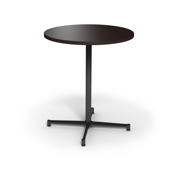 Center Stage, bar height, round table. Witchcraft & black weldment.