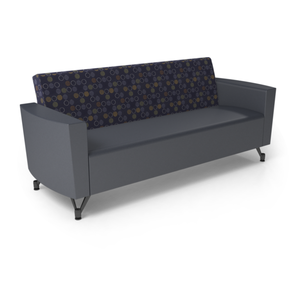Center Stage Sofa. Amuse Admiral & Imperial Blue Vinyl
