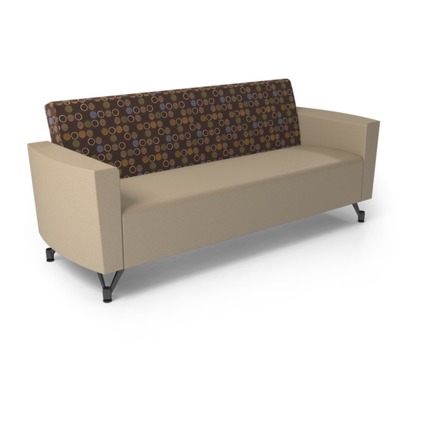 Center Stage Sofa. Amuse Mocha & Sand Vinyl
