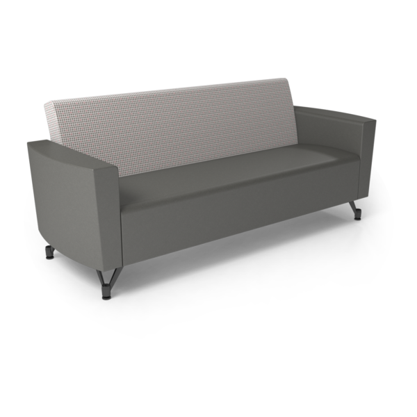 Center Stage Sofa. Knack Glaze & Gunmetal Vinyl