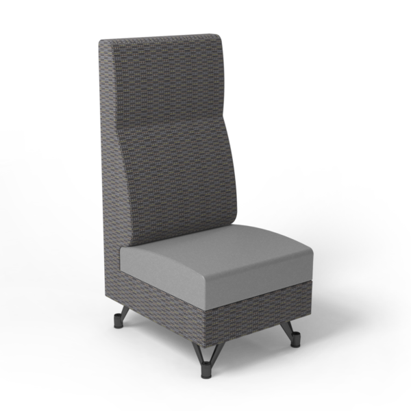 Center Stage, Single High Back Chair. Focal hudson & dove vinyl