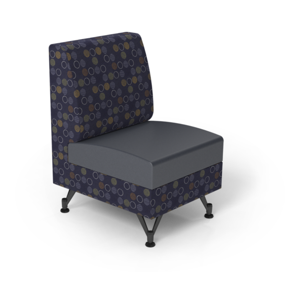 Center Stage Single Seat. Amuse Admiral & Imperial Blue Vinyl.