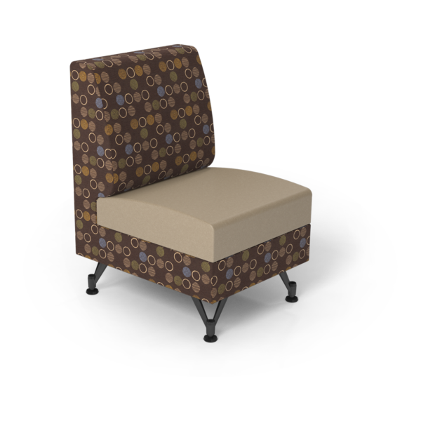 Center Stage Single Seat. Amuse Mocha & Sand Vinyl.