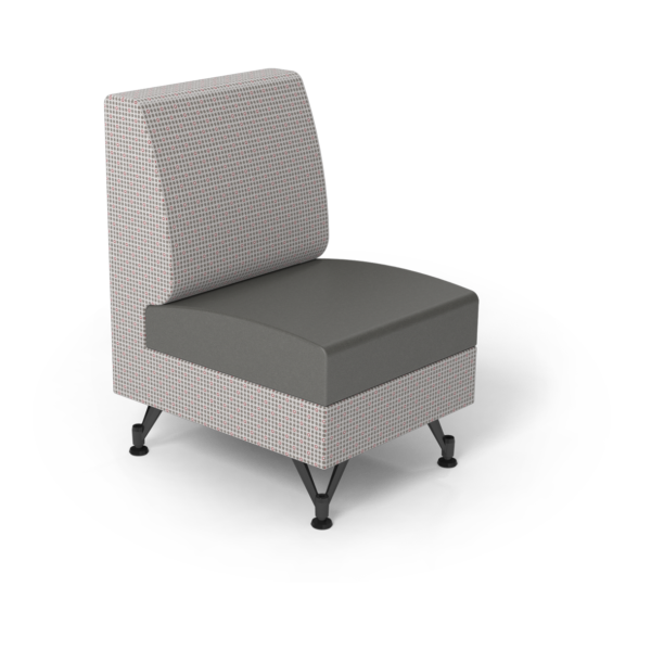 Center Stage Single Seat. Knack Glaze & Gunmetal Vinyl.