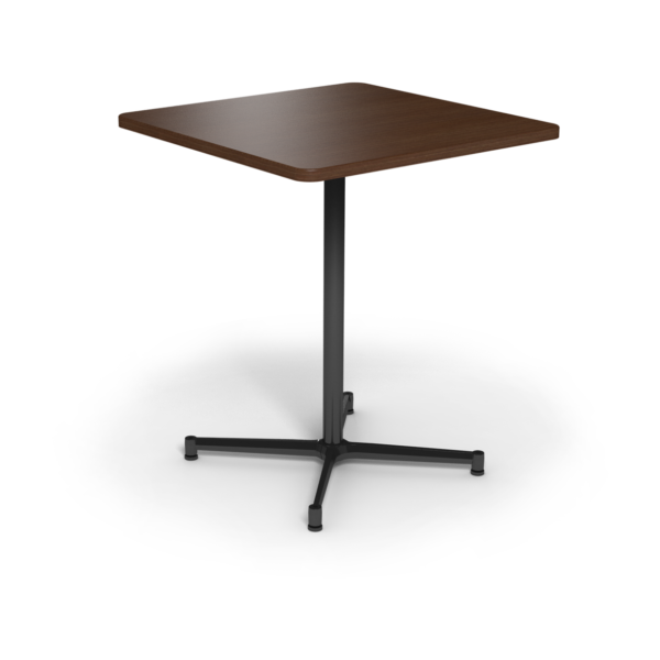Center Stage Bar Height Square Table. Gunstock Savoy & Black Weldment