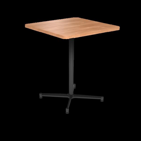 Cs 36X36 Table Bh Square Honeymaple Black 1220X1220