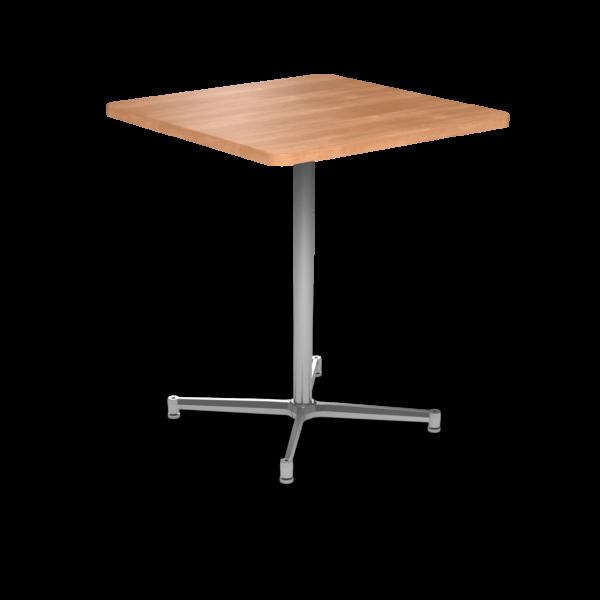 Cs 36X36 Table Bh Square Honeymaple Silver 1220X1220