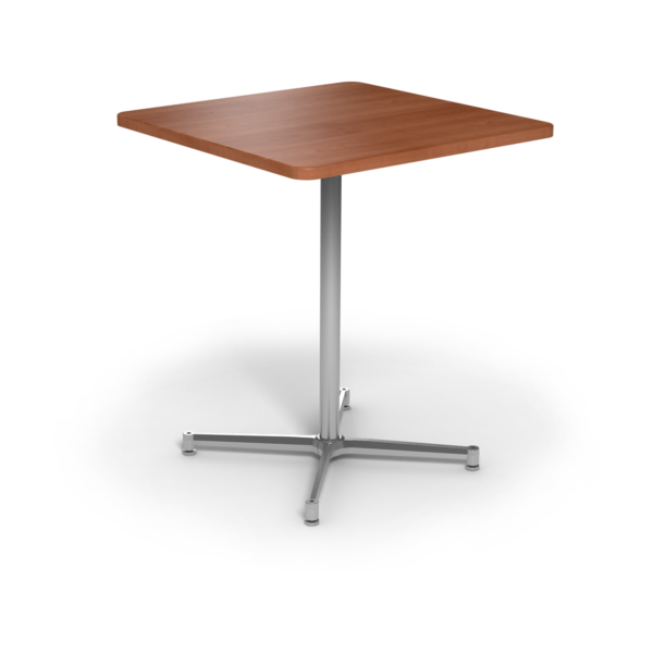 Cs 36X36 Table Bh Square Oiledcherry Silver 1220X1220