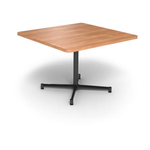 Cs 42X42 Table Th Square Honeymaple Black 1220X1220