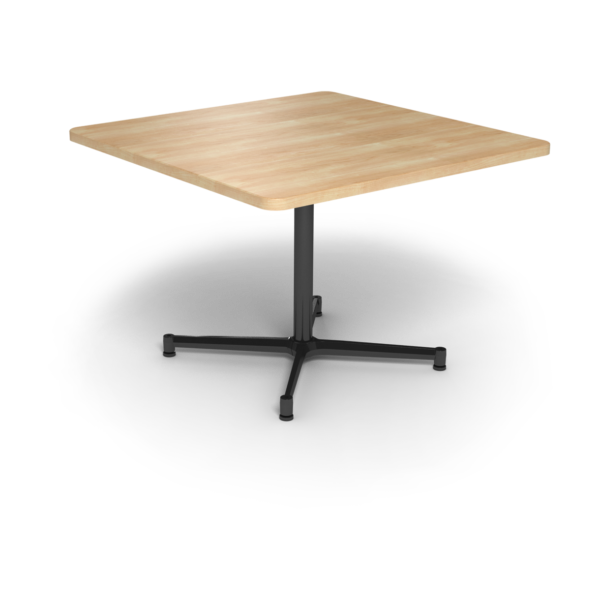 Cs 42X42 Table Th Square Sugarmaple Black 1220X1220