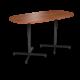 Cs 36X72 Table Bh Super Elliptical Oiledcherry Black 1220X1220