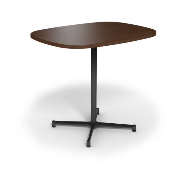 Center Stage Bar Height Super Elliptical Table. Gunstock Savoy & Black Weldment