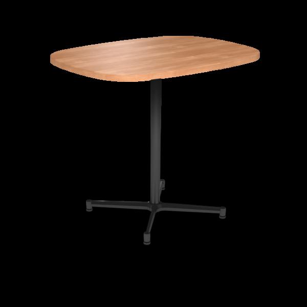 Center Stage Bar Height Super Elliptical Table. Honey Maple & Black Weldment