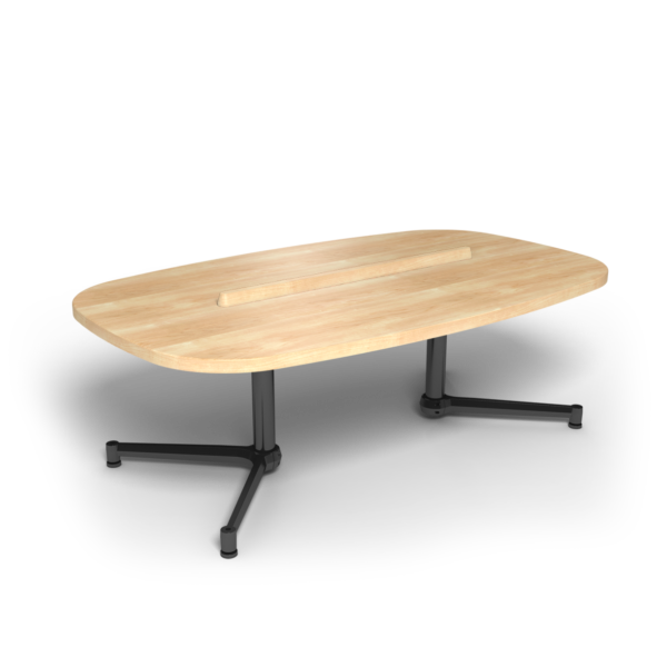 Center Stage Super Elliptical Table. Sugar Maple & Black Weldment.