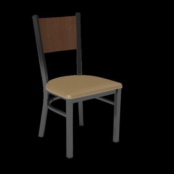 Center Stage, Mama Melissa Chair.  Oak Vinyl, Gunstock Savoy Seat Back with Black Weldment