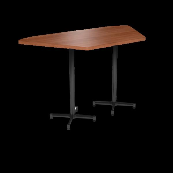 Cs 36X72 Table Bh Trapezoid Oiledcherry Black 1220X1220