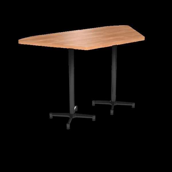 Cs 36X72 Table Bh Trapezoid Honeymaple Black 1220X1220