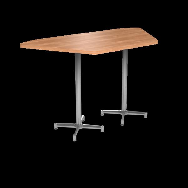 Cs 36X72 Table Bh Trapezoid Honeymaple Silver 1220X1220