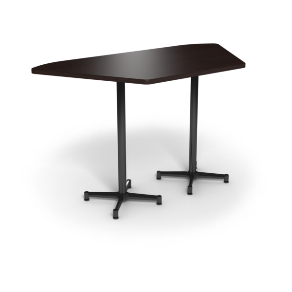 Center Stage, Trapezoid, Bar Height Table. Witchcraft & Black Weldment