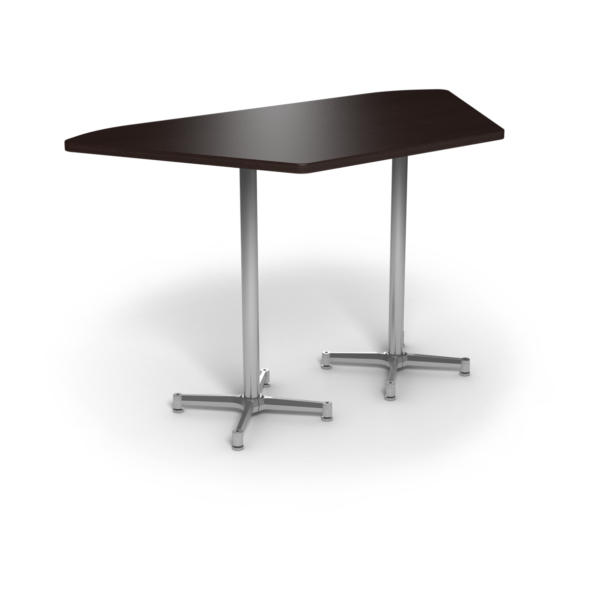 Center Stage, Trapezoid Bar Height Table. Witchcraft & Silver Weldment