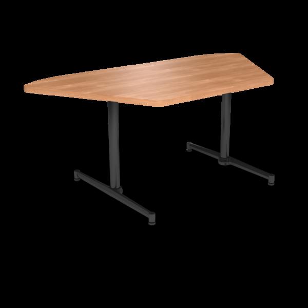 Cs 36X72 Table Th Trapezoid Honeymaple Black 1220X1220